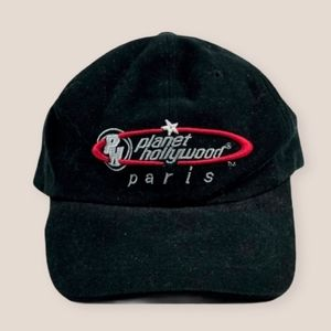 Vintage 90s Planet Hollywood Paris Baseball Cap